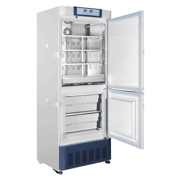 Upright fridge freezer